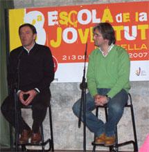 El candidato socialista Joan Ignasi Pla, junto al secretario general de la UC Plana Alta-Maestrat-Els Ports, Constantino Calero