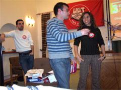jóvenes delegados realizan un proceso de elecciones sindicales
