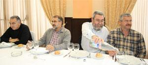Al término de la visita los dirigentes de UGT compartieron mesa con las elecciones sindicales como tema central