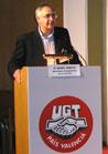 Ángel Gracia, secretario de cooperación de la UGT-PV enla inauguración de las Jornadas