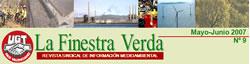 La Finestra Verda: Revista Sindical de Información Medioambiental. Mayo - Junio 2007 Nº 9