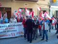 Trabajadores construcción se concentran frente a la patronal en Castellón en pro convenio autonómico