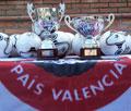 Una selección de la UGT-PV, junto a veteranos del Valencia CF, jugó un encuentro de Confraternidad