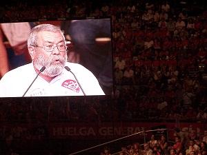 hoy al acto de Vistalegre de Madrid para preparar la huelga general