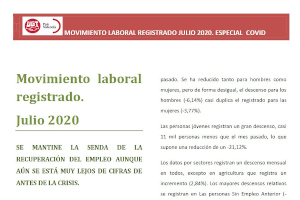informe movimiento laboral julio UGTPV