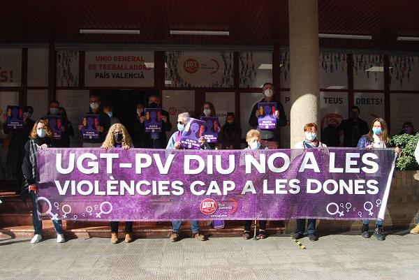 Concentraciones en las sedes de UGT PV para exigir el fin de las violencias machistas